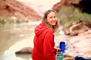 Brooke during her recent Rolfing training on the Grand Canyon!